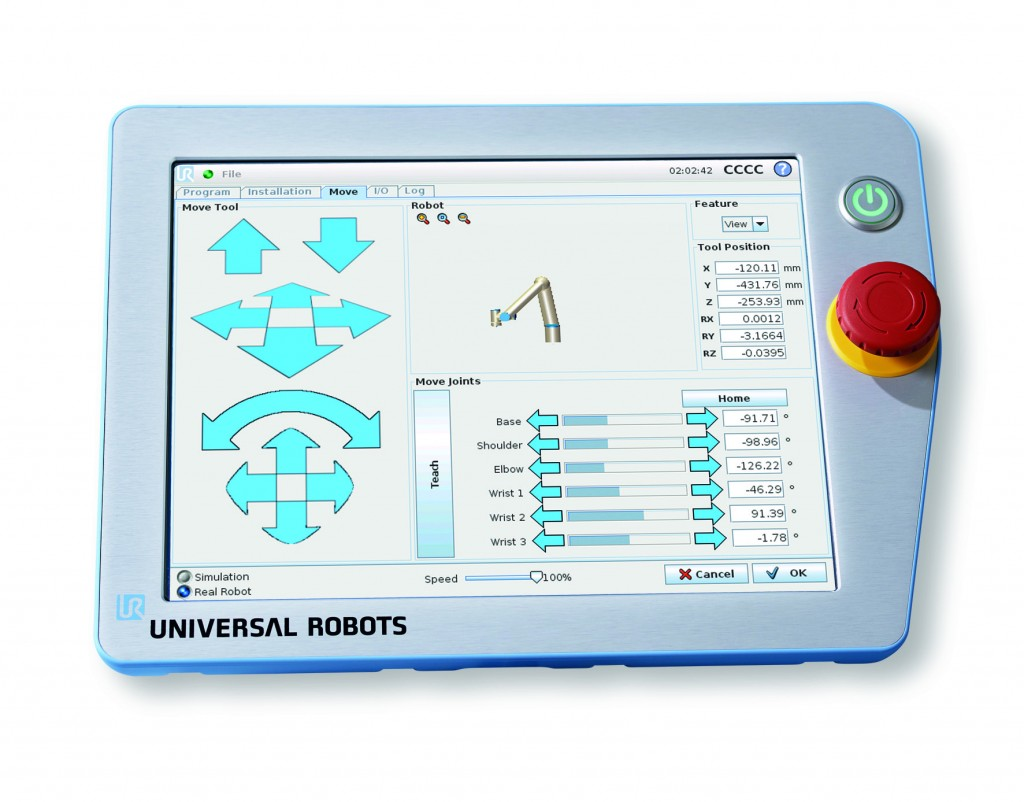 The Universal Robots TPU (Teach Pendant Unit) is very user friendly